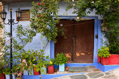 Old house in a greek village. Old house in a  village Royalty Free Stock Images