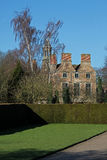 Old house and grounds, Rufford, Nottinghamshire. Old mansion and grounds, Rufford, Nottinghamshire, showing chimneys and tower stock images