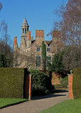 Old house and grounds, Rufford, Nottinghamshire. Old mansion and grounds, Rufford, Nottinghamshire, showing chimneys and tower royalty free stock photos