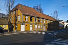 Old house in Halden. (Civic Center) Stock Photos