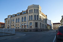 Old house in Halden. (Community Centre). In Halden, there are many old houses, most of the houses are from after 1826 when a major fire put almost the entire Stock Photography
