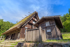 Old house in Hida Folk Village at Takayama. Japan Royalty Free Stock Photography