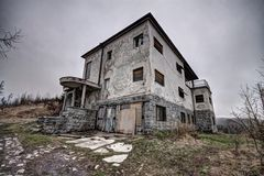 Old house on the hill Royalty Free Stock Photo