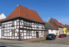 Old house in historic Oranienbaum - Worlitz, Germany. Old house in historic Oranienbaum city, West Germany royalty free stock images