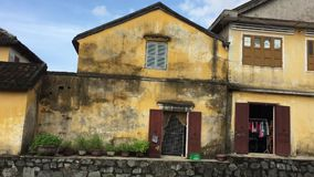 Old house in Hoi An Ancient town, Vietnam. Old houses in Hoi An Ancient town, Vietnam. Hoi An is a beautiful city in Vietnam, just south of Da Nang. The Old Town stock video
