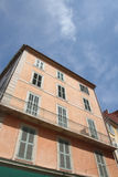 Old house of Hyeres with balcond and jalousies Stock Images