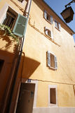 Old house of Hyeres and streetlight Stock Photography
