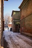Old house in the Irkutsk city Stock Photography