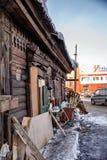 Old house in the Irkutsk city Stock Photo