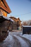 Old house in the Irkutsk city Royalty Free Stock Image