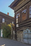 Old house in the Irkutsk city Royalty Free Stock Image