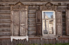 Old house in the Irkutsk city Royalty Free Stock Photos