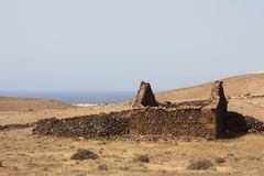 Old house. On the island of Lanzarote Royalty Free Stock Image