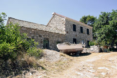An old house on the island Lastovo. In Croatia stock images