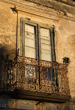 Old house in Italy. Balcony on old house in Italy, Tropea Stock Images