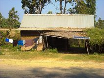 a old house in the jungle in burma Royalty Free Stock Image