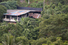 Old house in jungle. Old house surrounded by jungle on island of Sri Lanka royalty free stock photography