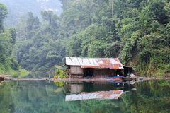 Old house Khao Sok Stock Photo