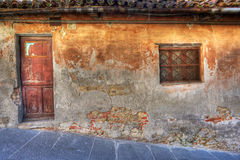 Old house. La Morra, Northern Italy. Stock Photos
