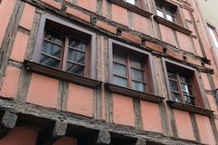 Old house in la petit France district on Strasbourg royalty free stock photography