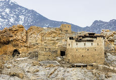 Old house in ladakh india. Abandoned house in ladakh india signifies buddhism Stock Photos