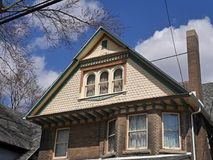 Old house with large gable Stock Image