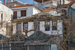 Old house in Limenaria, Thassos island, Greece Royalty Free Stock Images