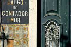 Old house in Lisboa Stock Image