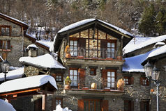 Old house in Llorts. Andorra stock photos