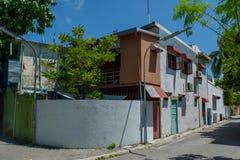 Old house at the street of Villingili island Royalty Free Stock Photography