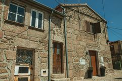 Free Old House Made Of Stone On Deserted Alley Stock Image - 146742151