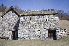 Old house made of stone Stock Images