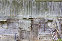 Old house. An old house made of wood Royalty Free Stock Photos