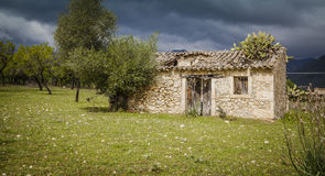 Old house of Mallorca. Ruins of an old house on  Mallorca Stock Image