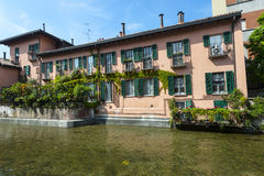 Old house on the Martesana canal (Milan, Italy) Royalty Free Stock Images