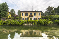 Old house on the Martesana (Milan) Royalty Free Stock Photography