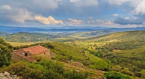 Old house in mediterranean landscape Stock Photo