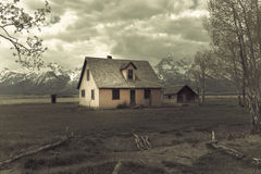 Old house in the middle of field Stock Photography