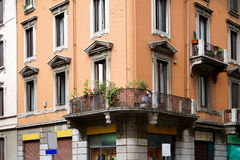 Old house of milan Stock Image