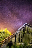 Old house and Milky Way Royalty Free Stock Photo