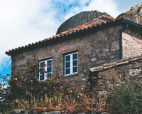 Old House in Monsanto royalty free stock images