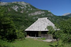 Old house. Montenegro Rovci mountains  nature wild beauty Stock Photography