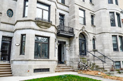 Old House in Montreal Stock Photography