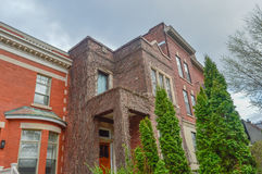 Old House in Montreal. Downtown Stock Photos