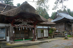 Old house at mount Haguro Stock Image