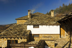 Old house in a mountain. Old house in Rhodope mountain in Bulgaria Royalty Free Stock Photos