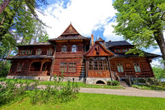 Old house in the mountain style, in Zakopane Royalty Free Stock Photo