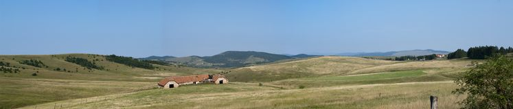 Old house on mountain Zlatibor royalty free stock photography