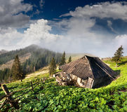 Old house in the mountains Royalty Free Stock Images