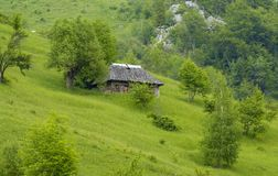 Old house in mountains Royalty Free Stock Photo